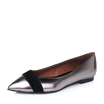 STACCATO/思加图秋季专柜同款牛皮时尚拼接女单鞋9UG11CQ5