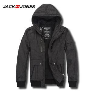 杰克琼斯男士秋冬休闲百搭连帽棉服外套N1-211422028100