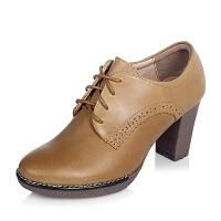 Tata/他她专柜同款时尚舒适牛皮女单鞋2WX31CM5