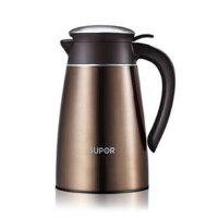 supor苏泊尔304不锈钢高真空保温瓶1.6L  家用运动旅行壶旅游壶暖水瓶 KC16AP1摩卡金