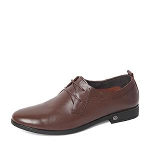 Belle/百丽春季专柜同款时尚简约牛皮革男单鞋4JB01AM6