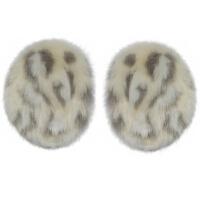 冬季女士耳套皮草耳包冬耳捂豹纹耳暖可爱保暖女性护耳 无发箍耳罩
