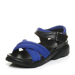 Teenmix/天美意夏专柜同款牛皮/弹力布时尚厚底运动风女凉鞋AK77TBL5