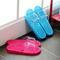 【可货到付款】欧润哲 2对装 时尚速干浴室拖鞋 情侣家居鞋