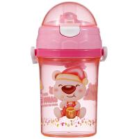 【当当自营】日康 儿童吸管透明水壶400ml RK-3443(颜色随机)吸管杯 新旧替换中