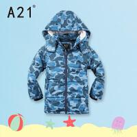 A21童装男童棉衣外套2016新款冬装加厚保暖棉袄儿童棉服中长款衫