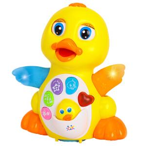 汇乐EQ摇摆大黄鸭 婴儿卡通音乐早教益智玩具儿童动物玩具会行走