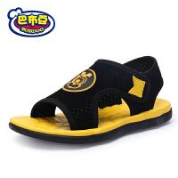 巴布豆童鞋 男童凉鞋2017夏季新款女童鞋中大童儿童凉鞋沙滩鞋潮