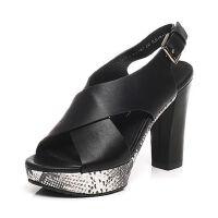 Tata/他她夏季专柜同款小牛皮女凉鞋2Y707BL6