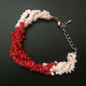 现代 珊瑚配白珊瑚手链