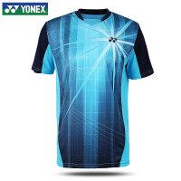 YONEX尤尼克斯羽毛球服 2017新品yy男款短袖T恤运动吸汗透气 海洋蓝男款