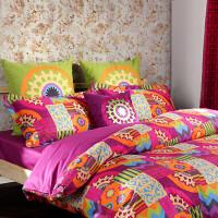 MMK家纺 多喜爱 巴塞罗那 全棉斜纹床单 婚庆四件套 床上用品
