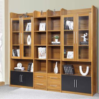 现代简约六门书柜 板式书架书橱书柜组合 带门储物柜文件柜 ps-sg001