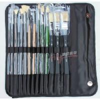 老人头14件画笔套装套刷板刷扇形笔水粉笔勾线笔