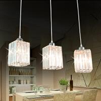 祺家现代简约棱形优雅高贵透明水晶吊灯餐厅灯ID09