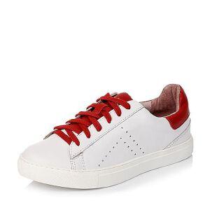BASTO/百思图专柜同款牛皮女单鞋TW327CM6小白鞋运动鞋女小白鞋女