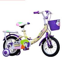 凤凰儿童自行车14寸16寸18寸公主车女孩单车带后座 月亮公主 月亮公主色