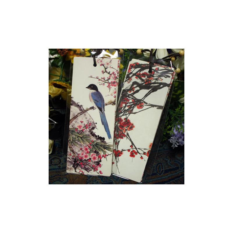 联盟古风喜梅中国风古风书签 古典水墨复古纸卡片 学生文具精美礼物