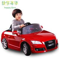 Happytime/快乐年华儿童益智电动车 双驱 奥迪高档安全四轮可坐遥控车