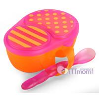 美国进口Sassy婴儿餐具套装 宝宝碗勺套装儿童硅胶辅食碗带盖防摔