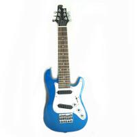 Vorson 电吉他丽丽 吉他丽丽 外贸 产品 迷你电吉他 26寸 儿童电吉他 实心电吉他丽丽 ST型 三色可选 :红色 黑色 蓝色(送: 连接线+扳手)