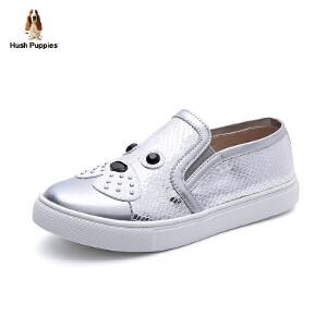 暇步士童鞋2017年夏季新款板鞋中童小狗网革面休闲鞋女童学生鞋潮 DP9059