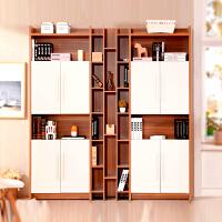 百意空间定制大书柜组合格子置物柜带门陈列柜子书架简约现代创意书橱时尚储物格