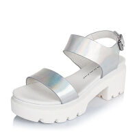 Tata/他她夏季专柜同款牛皮革女凉鞋2RO02BL6 专柜1