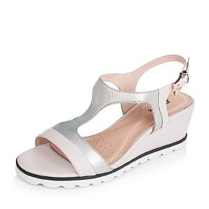 BATA/拔佳夏季专柜同款牛皮革/羊皮革女皮凉鞋65401BL6