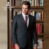 浪登中年男士纯羊毛西服套装秋冬男士商务正装西装绅士男套西8770