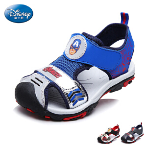 【6.26超级品牌日】迪士尼童鞋儿童沙滩凉鞋2017夏季新款小童漫威透气鞋面男童包头鞋
