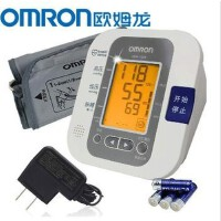Omron/欧姆龙 电子血压计 上臂式HEM-7209 家用语音提示 带原装电源 更多优惠搜索【好药师血压计】送老人适用