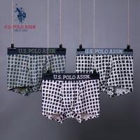 U.S. POLO ASSN.男士内裤平角裤 夏季青年透气性感新款四角短裤