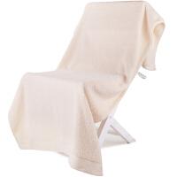 [当当自营]三利 A类加厚长绒棉 缎边大浴巾 纯棉吸水 柔软舒适 带挂绳 婴儿可用 米色