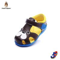 暇步士童鞋2017年春夏新款男童真皮羊皮凉鞋小童包头鞋 DP9052