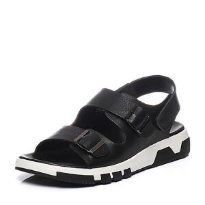 Teenmix/天美意2017夏专柜同款牛皮时尚皮带扣男凉鞋3CB0TBL7