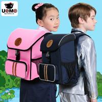 unme台湾正品1至4低年级小学生双肩减负护脊书包男儿童书包女