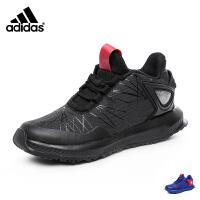 阿迪达斯adidas童鞋 新款中大童跑鞋跑步鞋儿童运动鞋 蜘蛛侠男童篮球鞋户外休闲鞋 黑/红(5-13岁可选) CG3226 S81138