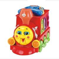 汇乐8810智乐火车 儿童积木益智早教玩具 托马斯电动灯光万向火车