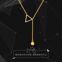 礼物「新品」周大福17916系列几何图形22K金项链套链吊坠E122283