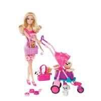 barbie芭比娃娃玩具女孩宠物集合组套装公主礼盒过家家