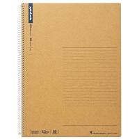日本maruman美乐麦 spiral 牛皮纸封面螺旋笔记本 记事本A4 80页