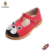 暇步士Hush Puppies童鞋小狗时装鞋女童学生鞋萌趣时尚儿童皮鞋DP9070