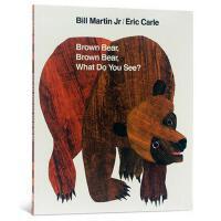 【现货】Brown Bear, Brown Bear, What Do You See? 英文原版儿童书 棕熊,棕熊,你看到了什么?  大开本平装绘本