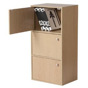 [当当自营]好事达 带门三层柜9375浅橡色 书架书柜 收纳储物柜子 优品优质